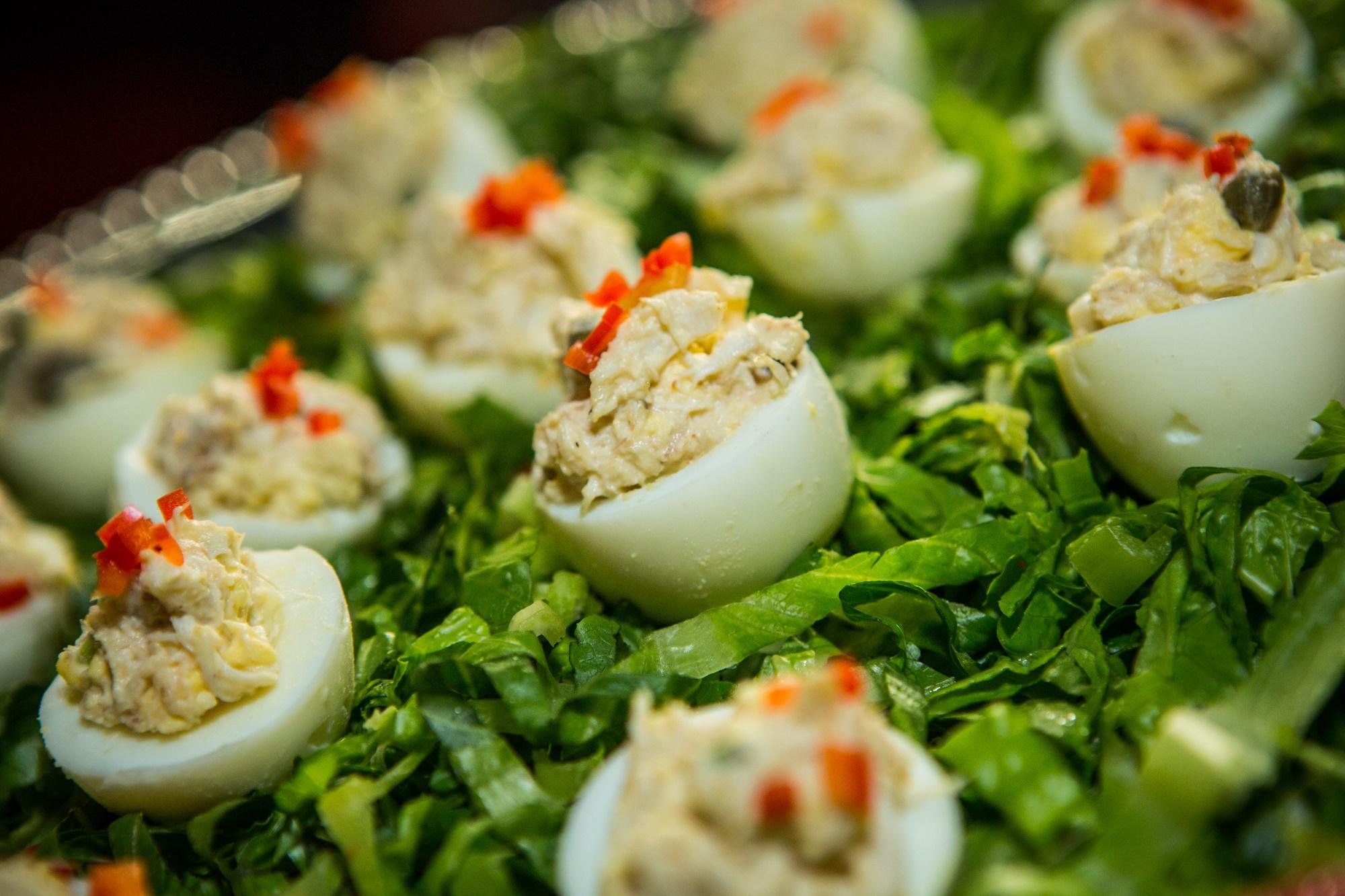 Crabmeat Ravigote Deviled Eggs